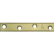 National Hardware N191-056 5/8 By 4 Inch Steel Bright Brass Mending Plate 4 Pack