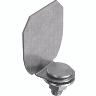 National Hardware N193-839 Round Track End Cap Galvanized