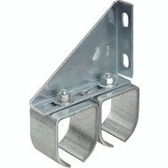 National Hardware N193-904 Double Round Barn Door Bracket Zinc Plated Steel