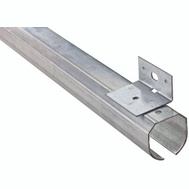 National Hardware N193-946 Trackmaster Round Rail Galvanized Steel Track 96 Inch With Face Mount Brackets