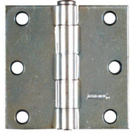 National Hardware N195-651 3 By 3 Inch Zinc Plated Steel Broad Hinges 2 Pack