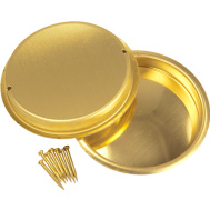 National Hardware N196-477 Recessed Round Cup Pulls 2-1/8 Inch Bright Brass 2 Pack