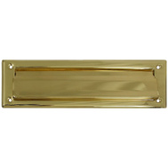 National Hardware N197-905 Mail Slot 2 By 11 Inch Opening Polished Solid Brass