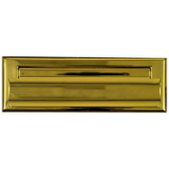 National Hardware N197-913 Small Mail Slot 1-1/2 By 7 Inch Bright Solid Brass