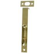 National Hardware N197-954 N327-684 S803-998 6 Inch Bright Solid Brass Square Corner Recessed Flush Bolt