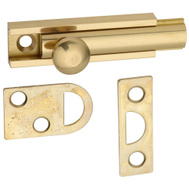 National Hardware N197-962 Flush Surface Bolt 2 Inch Bright Solid Brass