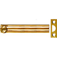 National Hardware N197-988 Flush Surface Bolt 4 Inch Bright Solid Brass