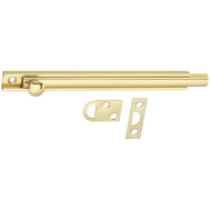 National Hardware N198-010 S804-040 Flush Surface Bolt 6 Inch Bright Solid Brass