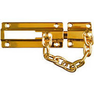 National Hardware N198-036 Dead Bolt And Chain Door Guard Solid Brass Hardened Steel Chain