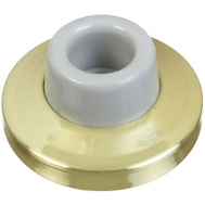 National Hardware N198-069 Concave Wall Door Stop 2-3/8 Inch Bright Solid Brass