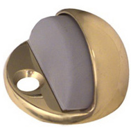 National Hardware N198-077 Low Rise Dome Floor Mount Door Stop Bright Brass
