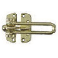 National Hardware N199-679 Swing Door Security Guard Bright Brass