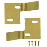 National Hardware N200-345 Bi-Fold Folding Door Aligner Set Brass Plated Steel