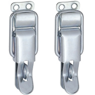 National Hardware N208-587 Lockable Draw Catch 3-3/8 Inch Zinc Plated Steel 2 Pack