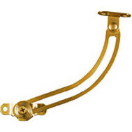 National Hardware N208-652 Friction Lid Support 5 Inch Right Hand Bright Brass Plated Steel