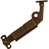 National Hardware N327-320 N208-678 Friction Lid Support Right Handed 5-1/2 Inch Antique Brass Steel