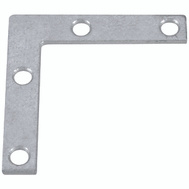 National Hardware N208-793 Flat Corner Iron Braces 4 By 3/4 By 0.07 Inch Galvanized Steel 4 Pack