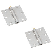 National Hardware N208-843 Removable Pin Galvanized Square Corner Broad Hinges 3-1/2 Inch 2 Pack