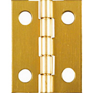 National Hardware N211-177 1 By 3/4 Inch Bright Brass Finish Narrow Hinges 4 Pack