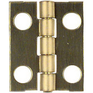 National Hardware N211-193 3/4 By 5/8 Inch Bright Brass Finish Narrow Hinges 4 Pack