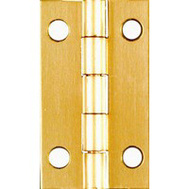 National Hardware N211-219 1-1/2 By 7/8 Inch Solid Brass Finish Narrow Hinges 2 Pack