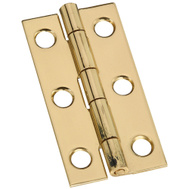 National Hardware N211-235 2 By 1 Inch Bright Brass Finish Narrow Hinges 2 Pack