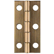 National Hardware N211-243 Narrow Craft And Hobby Hinges 2 By 1 Inch Antiqued Solid Brass 2 Pack