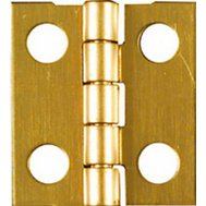 National Hardware N211-276 Middle Craft And Hobby Hinges 3/4 By 11/16 Inch Bright Solid Brass 4 Pack