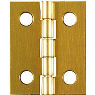 National Hardware N211-284 Middle Craft And Hobby Hinges 1 By 13/16 Inch Bright Solid Brass 4 Pack