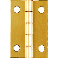 National Hardware N211-292 Middle Craft And Hobby Hinges 1-1/2 By 1 Inch Bright Solid Brass 2 Pack