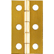 National Hardware N211-300 Middle Craft And Hobby Hinges 2 By 1-3/16 Inch Bright Solid Brass 2 Pack