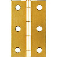 National Hardware N211-318 Middle Craft And Hobby Hinges 2-1/2 By 1-9/16 Inch Bright Brass Finish Hinges 2 Pack
