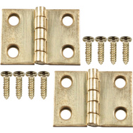 National Hardware N211-326 Broad Craft And Hobby Hinges 3/4 By 1 Inch Bright Solid Brass 4 Pack