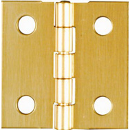 National Hardware N211-334 1 By 1 Inch Bright Brass Finish Hinges 4 Pack