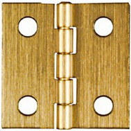 National Hardware N211-342 Broad Craft And Hobby Hinges 1 By 1 Inch Antiqued Solid Brass 2 Pack