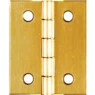 National Hardware N211-359 Broad Craft And Hobby Hinges 1-1/2 By 1-1/4 Inch Bright Solid Brass 2 Pack