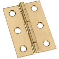 National Hardware N211-375 2 By 1-3/8 Inch Bright Brass Finish Hinges 2 Pack