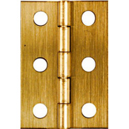 National Hardware N211-383 2 By 1-3/8 Inch Antique Brass Finish Hinges 2 Pack