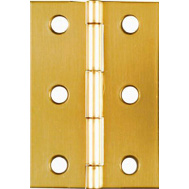 National Hardware N211-391 Broad Craft And Hobby Hinges 2-1/2 By 1-3/4 Inch Bright Solid Brass 2 Pack