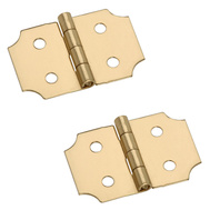 National Hardware N211-441 5/8 By 1 Inch Bright Brass Finish Decorative Hinges 2 Pack