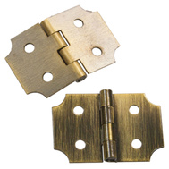 National Hardware N211-458 5/8 By 1 Inch Antique Brass Finish Decorative Hinges 2 Pack