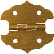National Hardware N211-813 1-1/8 By 1-1/8 Inch Antique Brass Finish Decorative Hinges 2 Pack