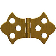 National Hardware N211-839 Decorative Cabinet Hinges 1-5/16 By 2-1/4 Inch Antiqued Solid Brass 2 Pack