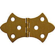 National Hardware N211-854 1-11/16 By 3-1/16 Inch Antique Brass Finish Decorative Hinges 2 Pack