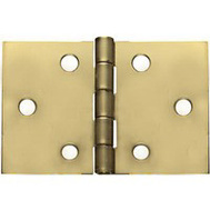 National Hardware N211-888 Desk Hinges 2 By 3-1/16 Inch Bright Solid Brass 2 Pack