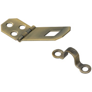 National Hardware N211-904 Decorative Hasp 3/4 By 2-3/4 Inch Antiqued Solid Brass