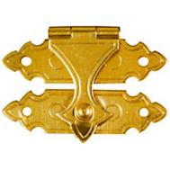 National Hardware N211-946 Decorative Catches 3/4 By 1-3/8 Inch Solid Brass 2 Pack