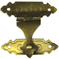 National Hardware N211-953 Decorative Catches 3/4 By 1-3/8 Inch Antique Solid Brass 2 Pack