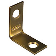 National Hardware N213-389 Corner Braces 1 By 1/2 By 0.06 Inch Bright Solid Brass 4 Pack