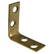 National Hardware N213-397 Corner Braces 1-1/2 By 5/8 By 0.06 Inch Bright Solid Brass 4 Pack